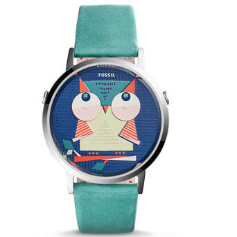 Two-Hand-Teal-Leather-Watch